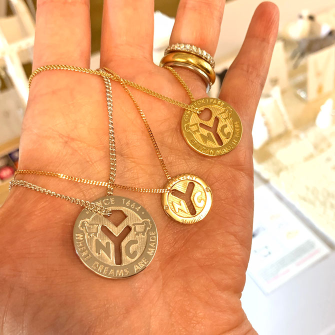 Julie Lamb Token necklaces
