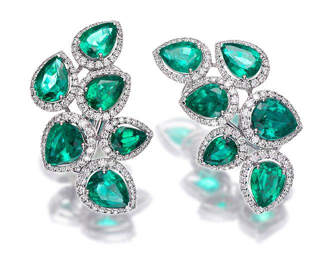 Picchiotti pear shape emerald earrings