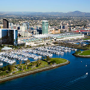 aerial view of San Diego Convention Center