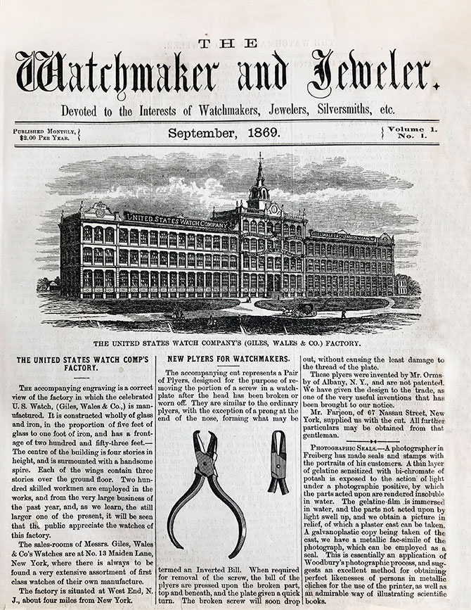 1869 Watchmaker and Jeweler