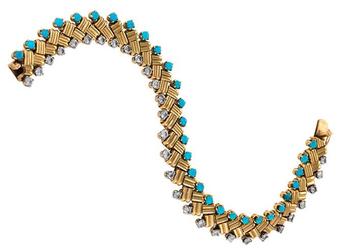 1953 Van Cleef turquoise bracelet