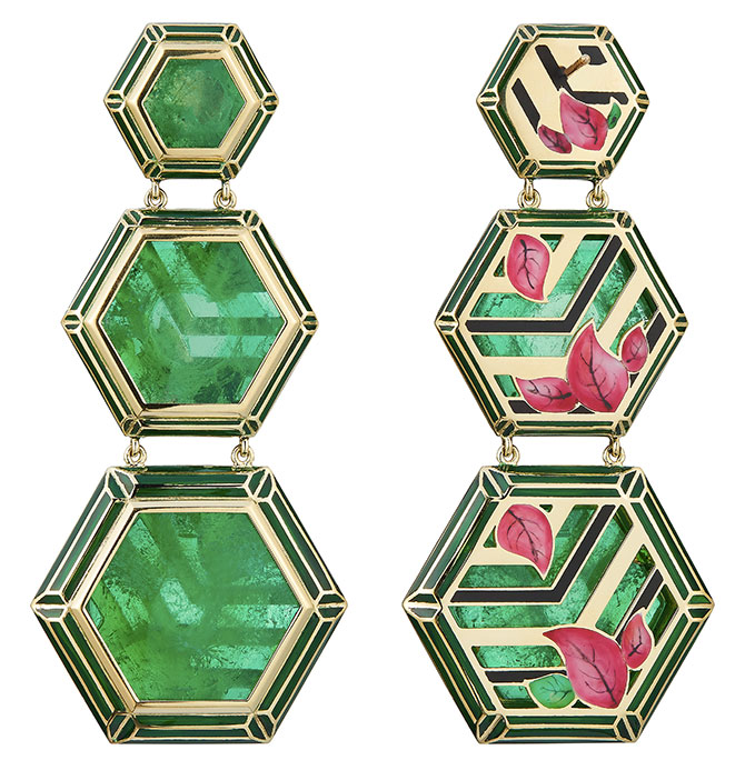 Alice Ciccolini jaipur bouganvilla earrings