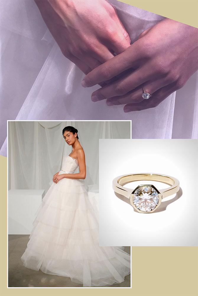 Amsale Bella gown Katkim jewelry