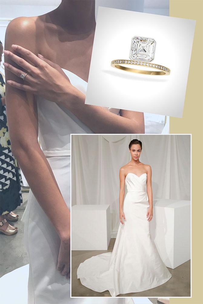 Amsale Jamison gown Katkim jewelry