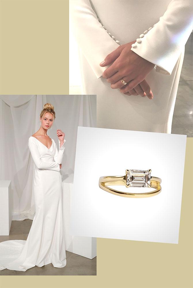Amsale Vika gown Katkim ring