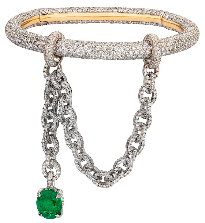 Ana Khouri eva emerald diamond bracelet