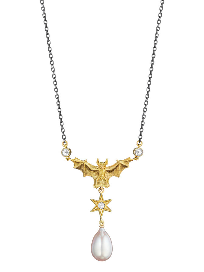 Anthony Lent flying fox necklace