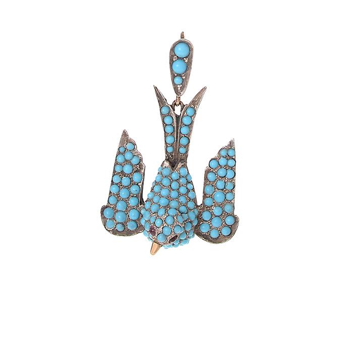 Ariel Gordon turquoise dove charm