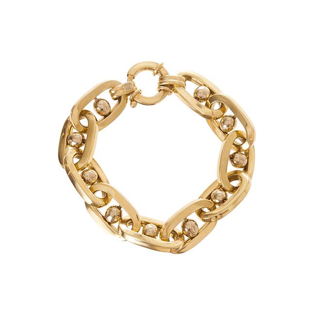 Ariel Gordon vintage jumbo link gold bracelet