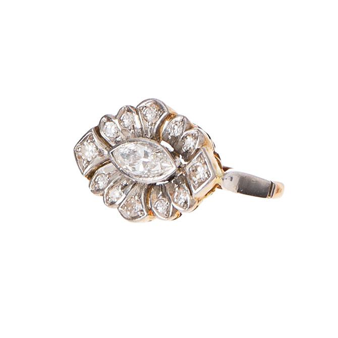 Ariel Gordon vintage marquise diamond ring