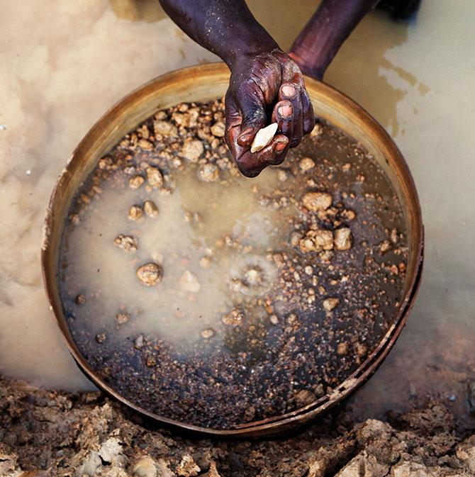 Artisinal miner in Sierra Leone in 2012