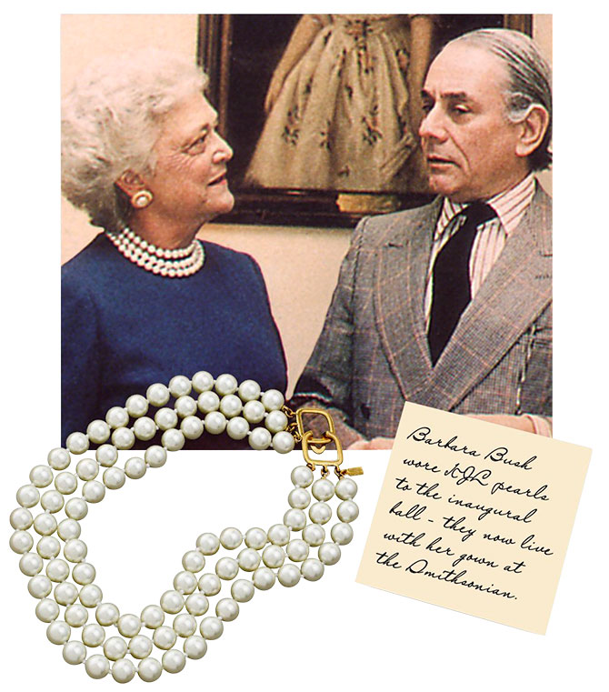 Barbara Bush and Kenneth Jay Lane