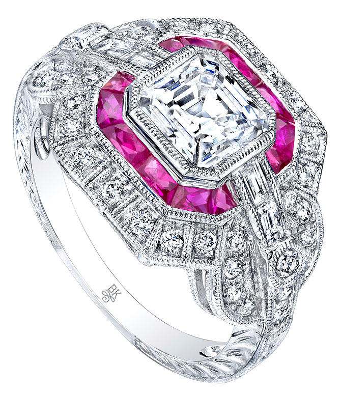 Beverley K diamond ruby ring