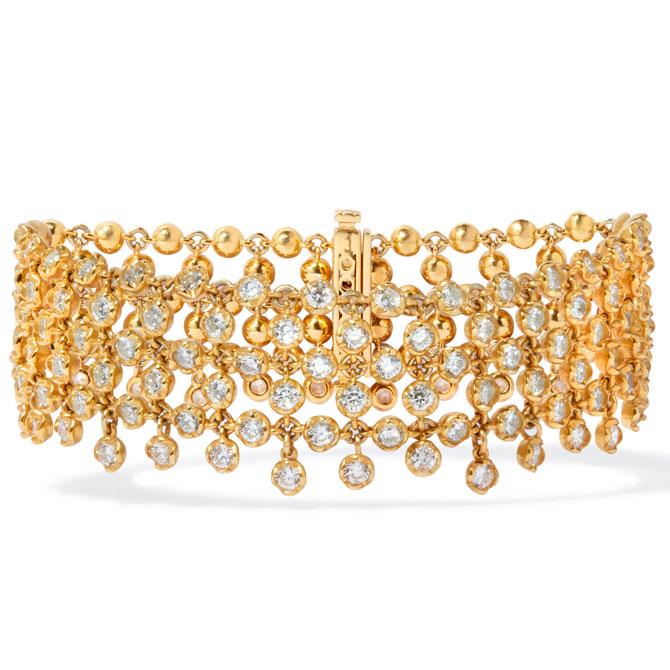 Annoushka Lattice diamond net bracelet