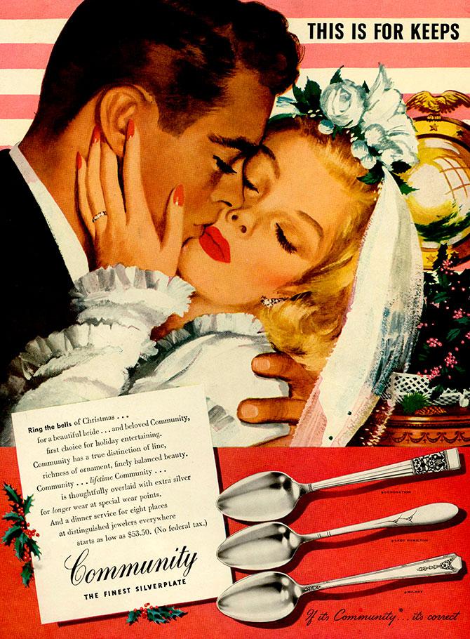 Bridal silverware ad