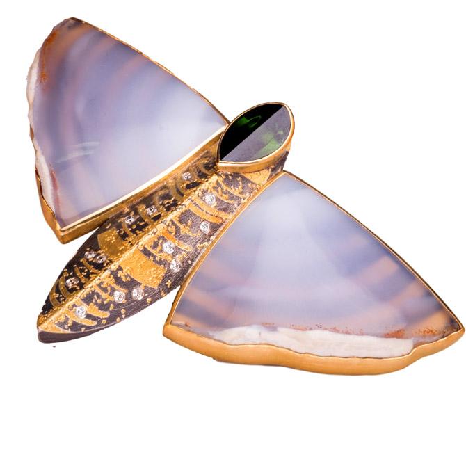 Atelier Zobel butterfly brooch