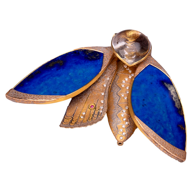 Atelier Zobel moth brooch