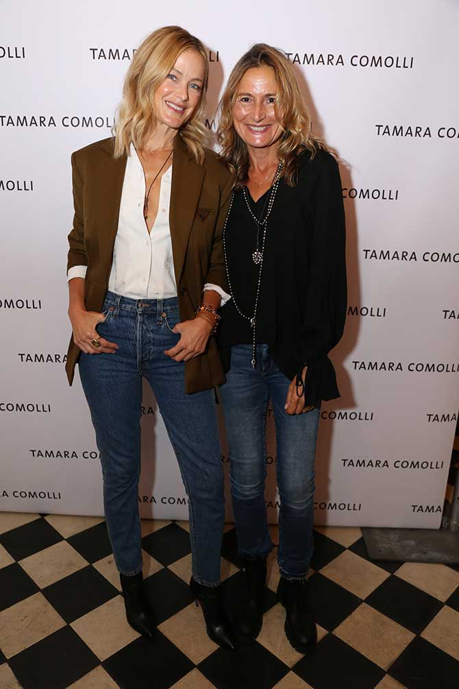 Carolyn Murphy and Tamara Comolli
