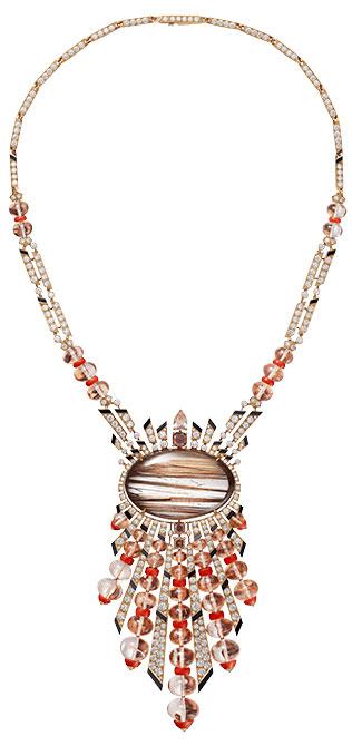 Cartier magnitude rutilated quartz necklace