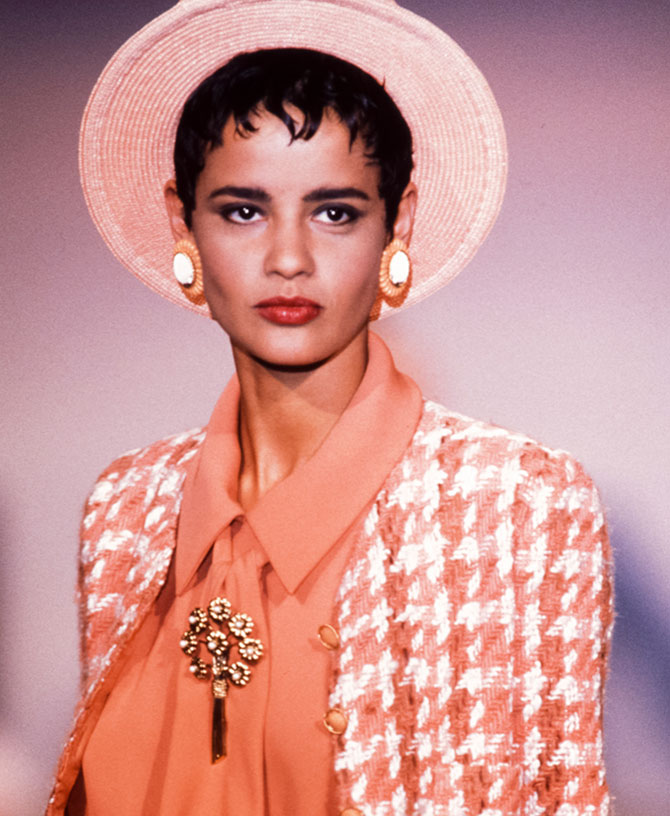 Chanel model in mid 1980s