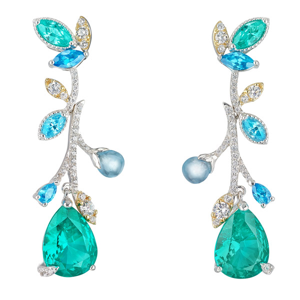 Anabela Chan tourmaline vine earrings