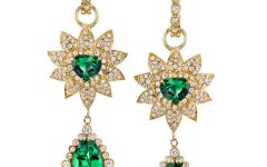Erica Courtney tsavorite Flame earrings