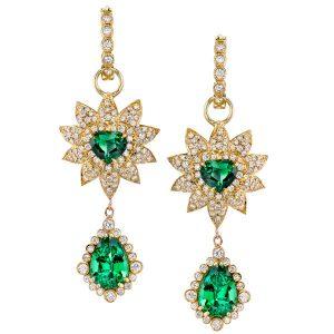 Erica Courtney tsavorite Flame earrings