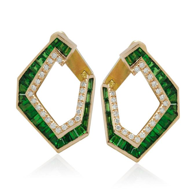 Kavant Sharart Origami tsavorite earrings