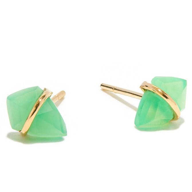 Page Sargisson chyrsoprase Kite earrings