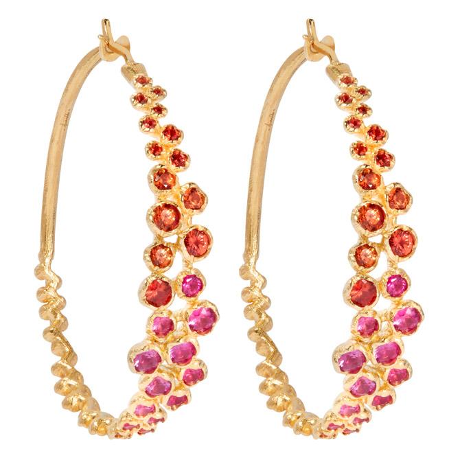 Annoushka Hidden Reef hoop earrings
