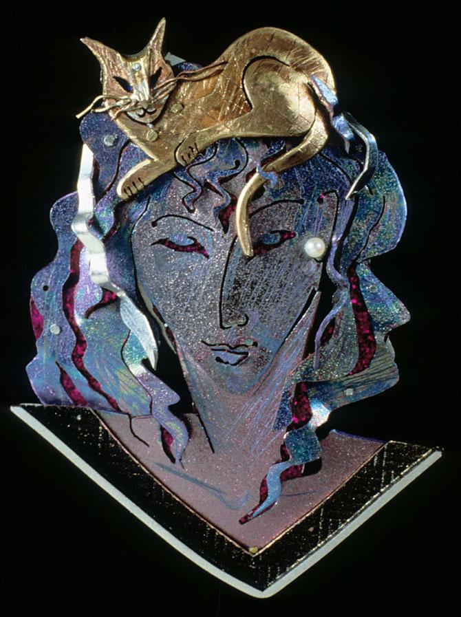 Enid Kaplan Always Something brooch 1986