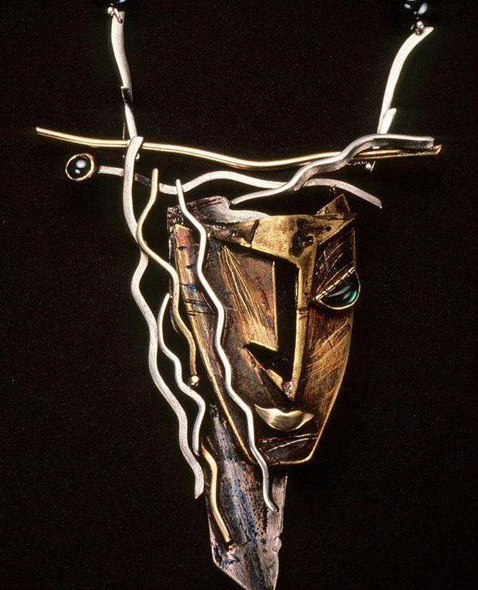 Enid Kaplan Diana brooch 1988