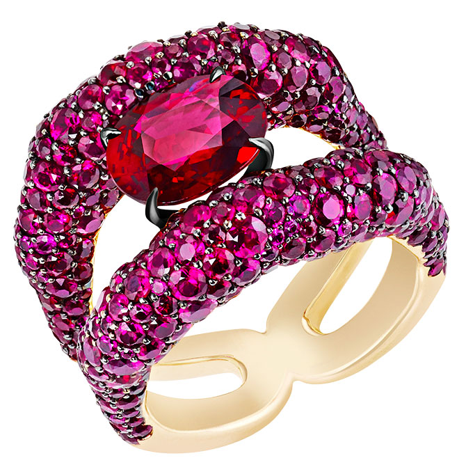Faberge Mozambican ruby ring