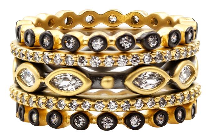 Freida Rothman ring stack