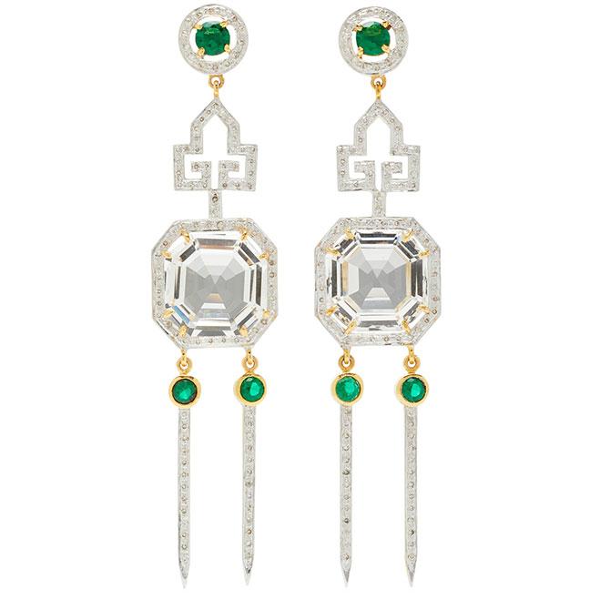 Hanut SIngh Deco Ice Pick earrings