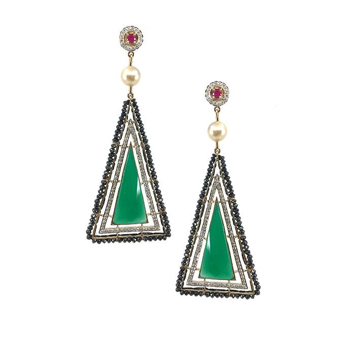 Hanut SIngh Pyramid earrings