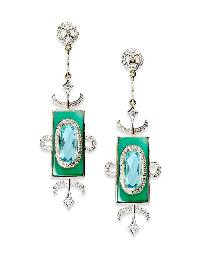 Hanut Singh Windowframe earrings