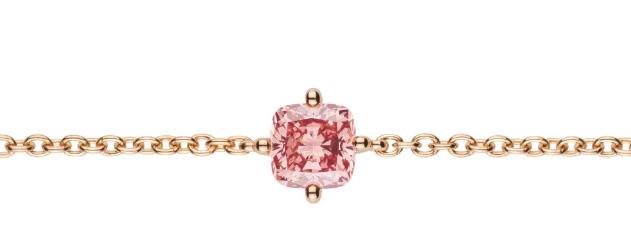 Lightbox cushion cut pink diamond bracelet