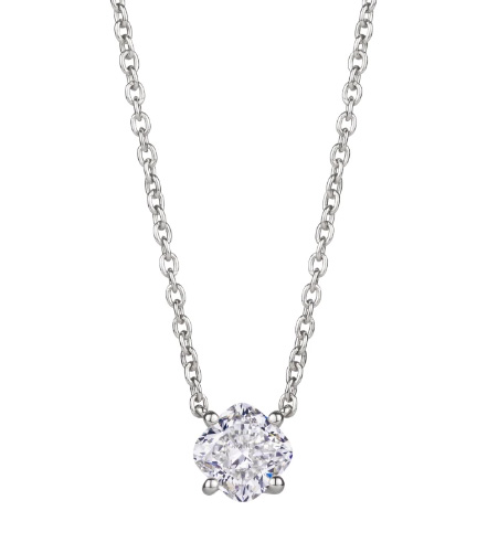 Lightbox cushion cut pendant necklace