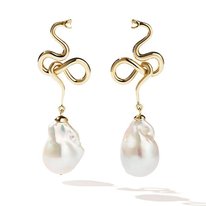 Meadowlark medusa drop earrings
