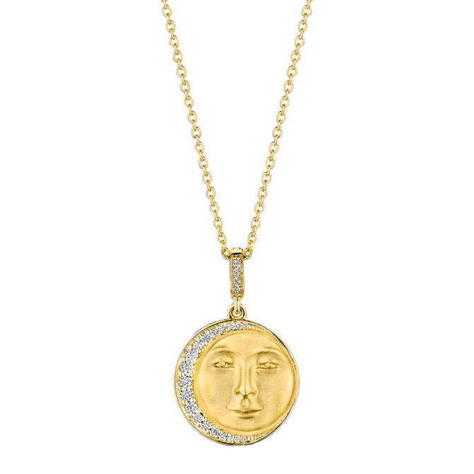 Penny Preville Man in the Moon Medallion necklace