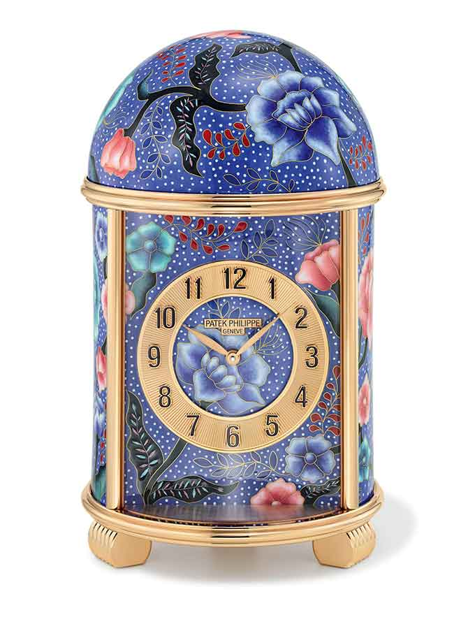 Patek Philippe Ref. 20091M Batik on Blue dome table clock
