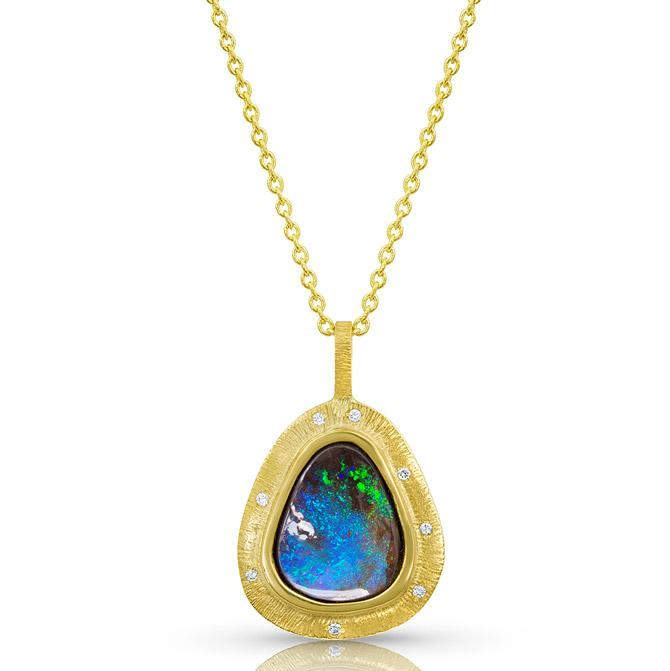 Kaali Designs opal pendant