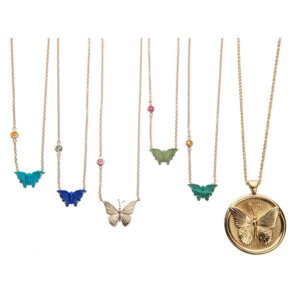 Jane Winchester Freedom collection butterfly pendants