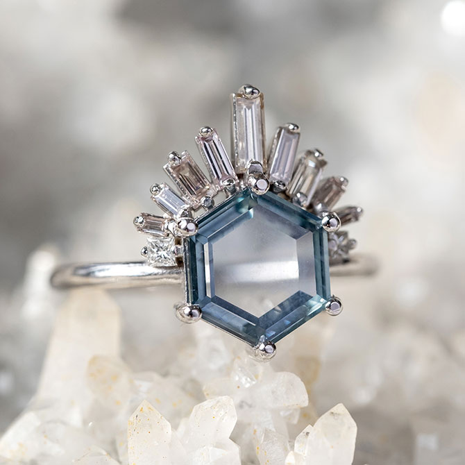 Point No Point montana sapphire ring
