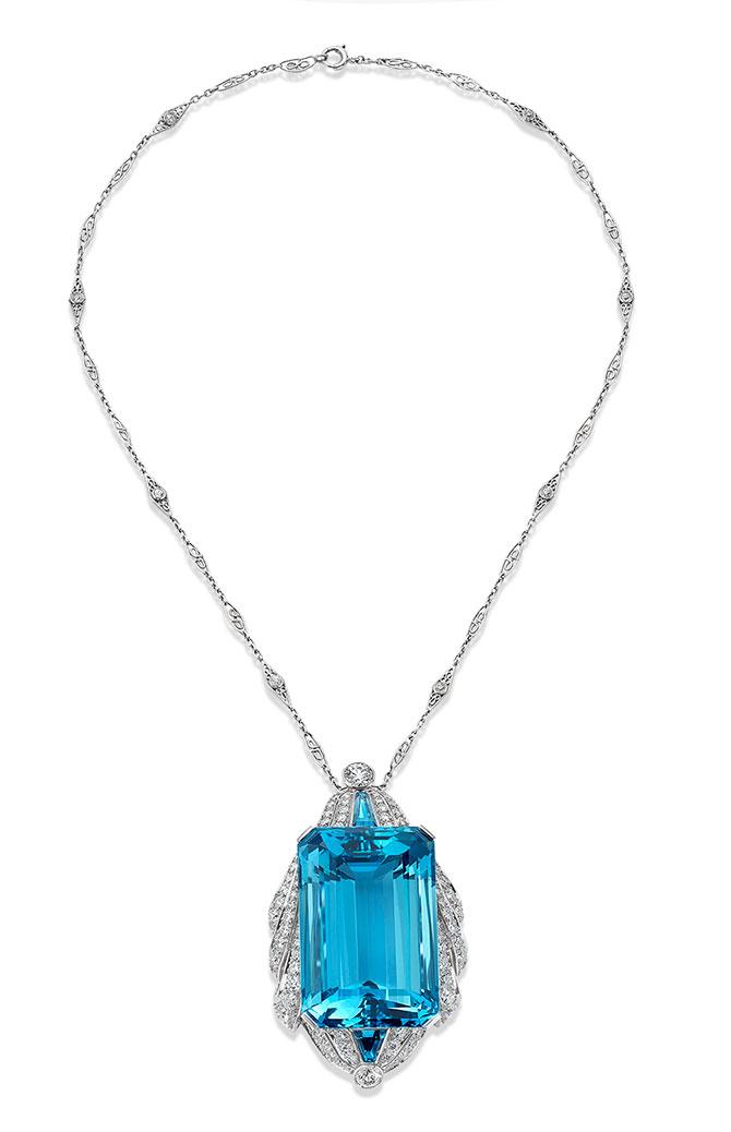 Provident aquamarine necklace