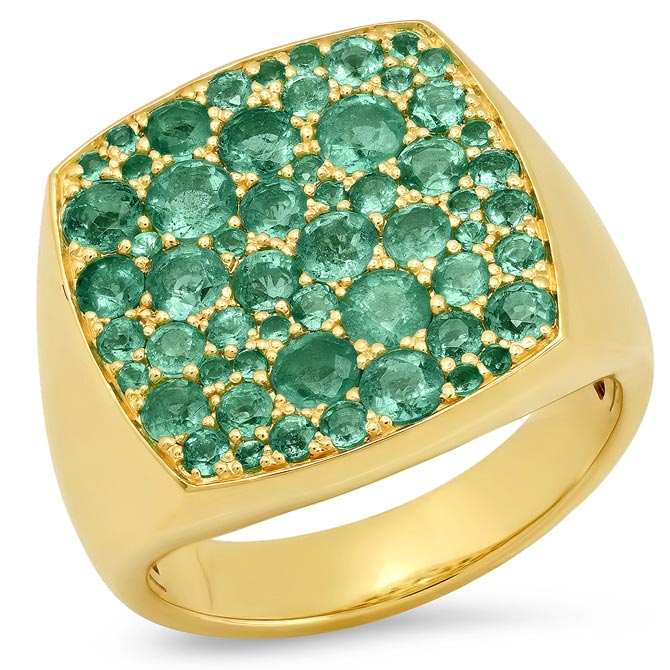 Eriness emerald signet ring