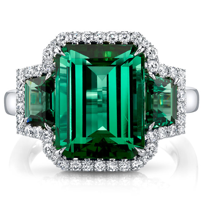 Omi Prive green tourmaline and alexandrite ring
