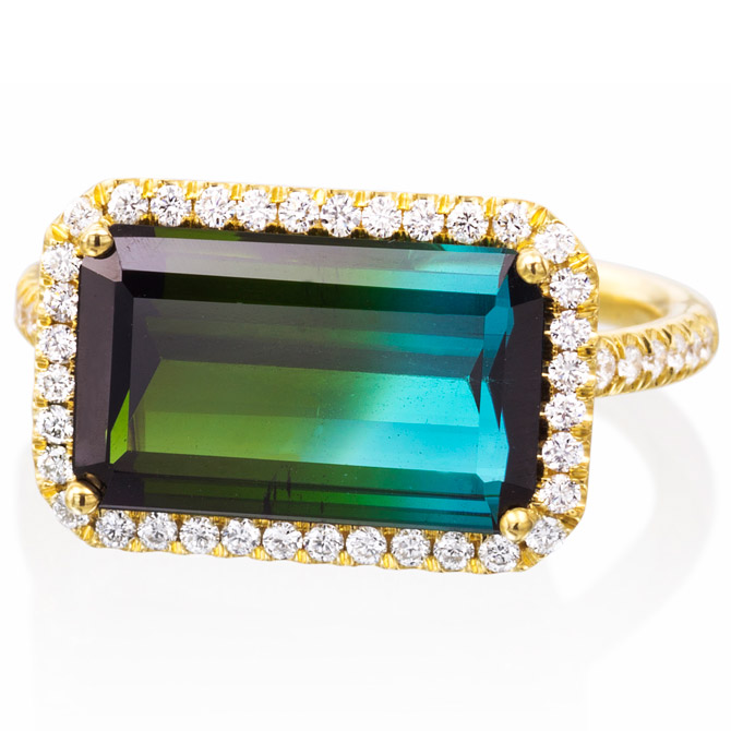 Lauren K blue tourmaline ring