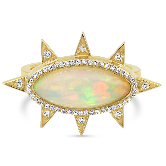 M Spalten opal ring